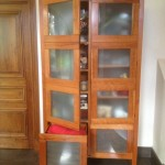 Laundry Cabinet in American Cherry 3